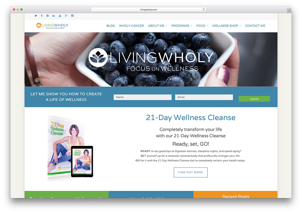 livingwholy-healthy-living-wordpress-website