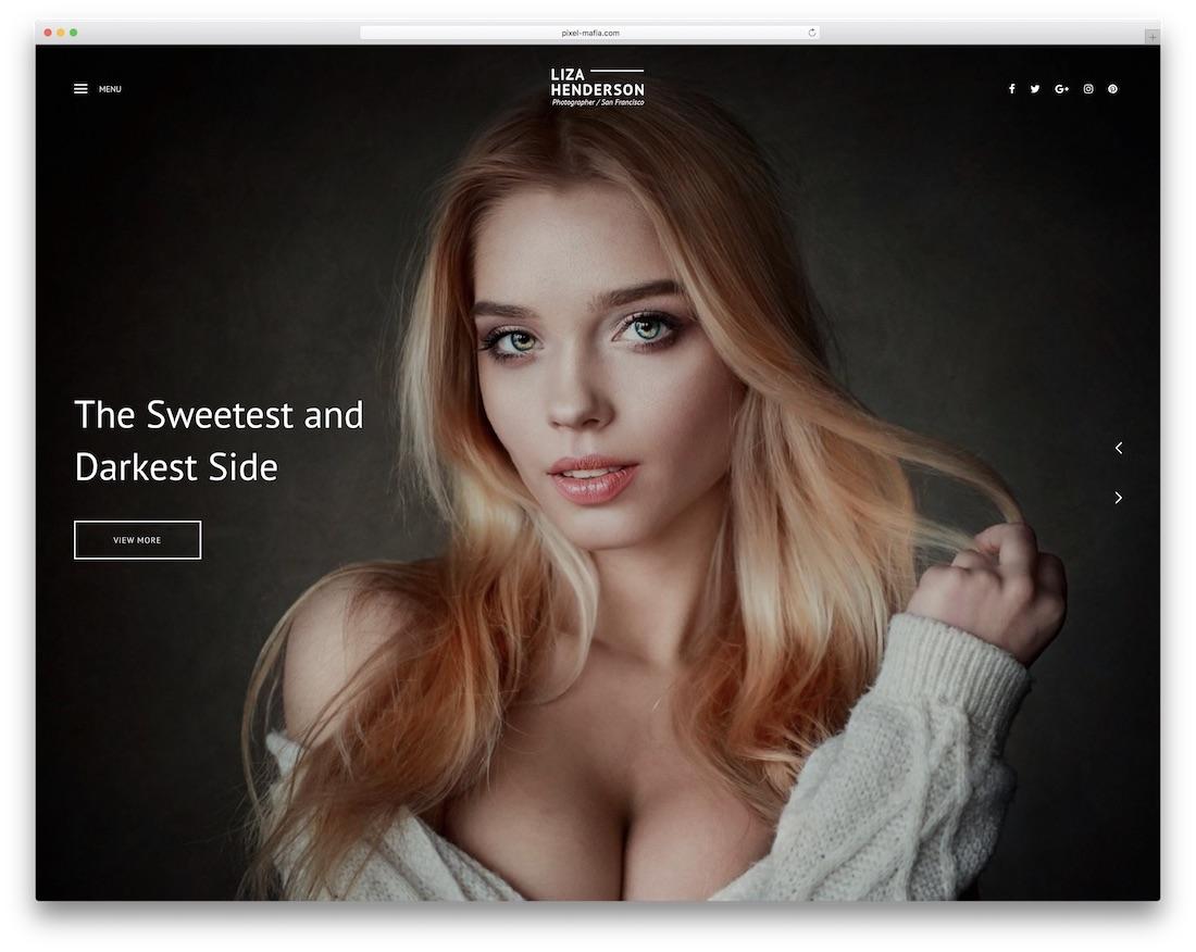 liza gallery website template