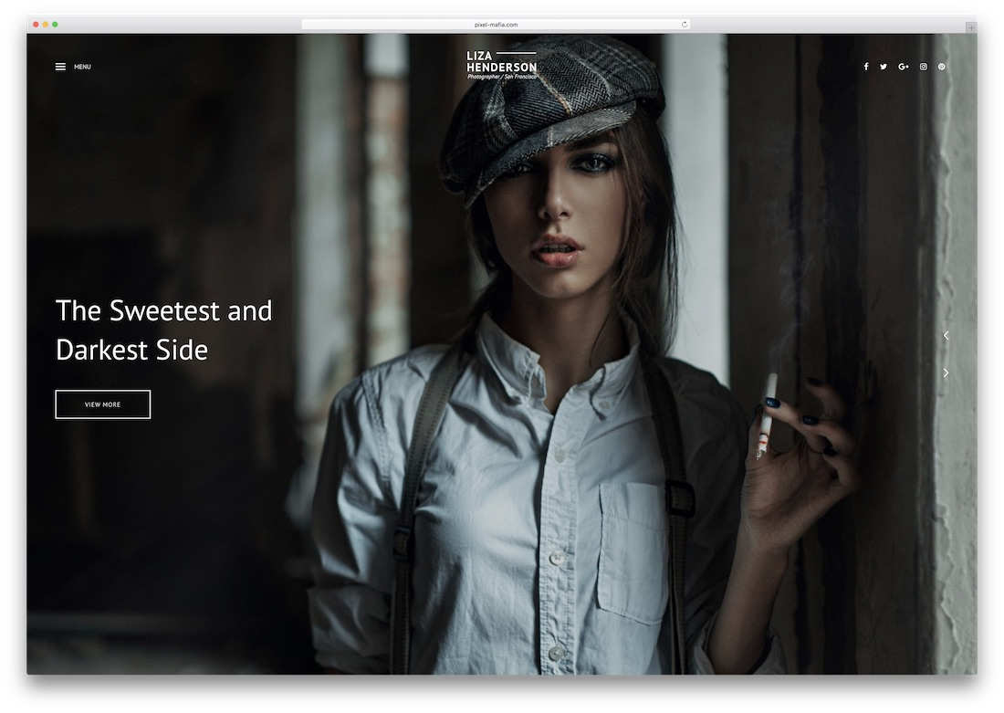 liza photography website template