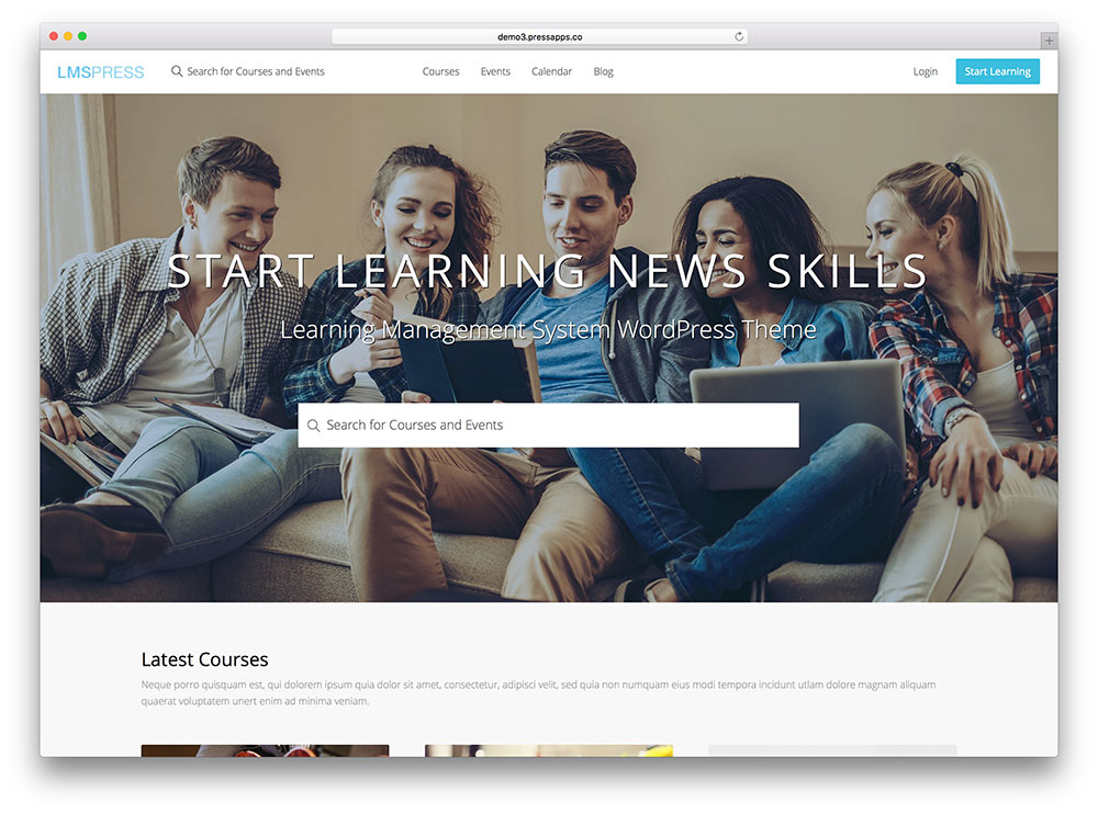 lmst press - fullscreen education theme