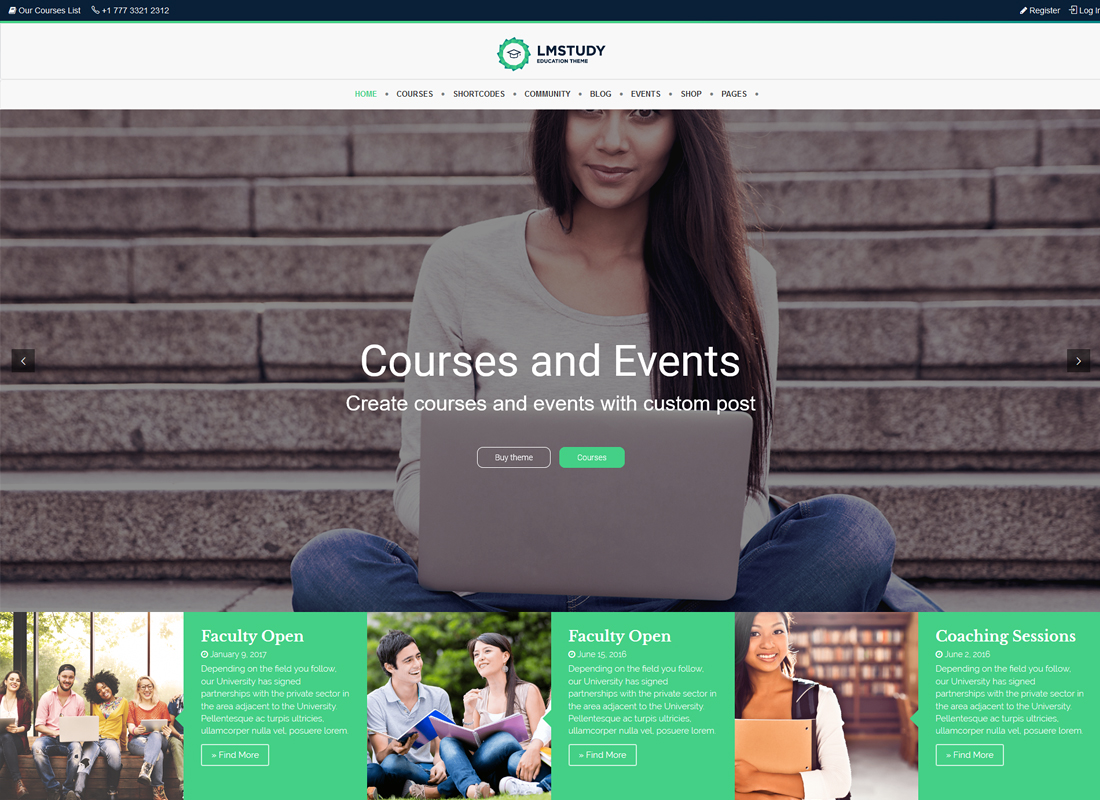 LMStudy | Course / Learning / Education LMS WooCommerce Theme