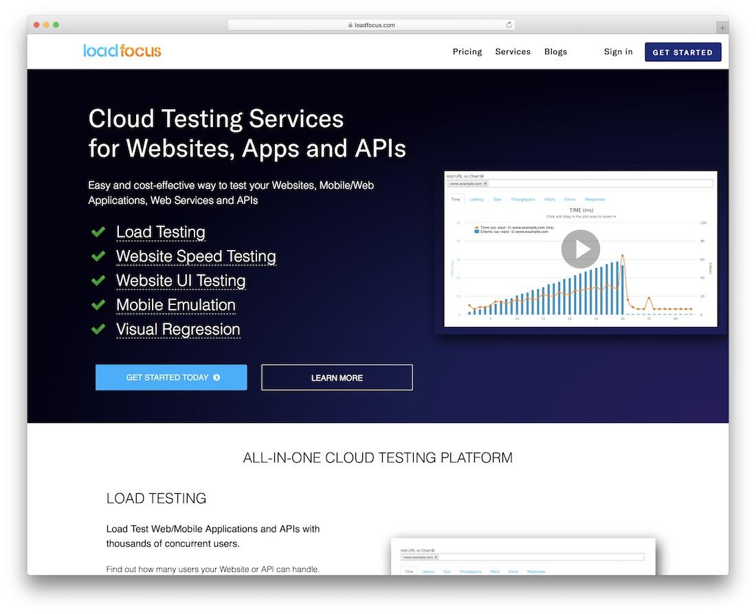 loadfocus code testing tool