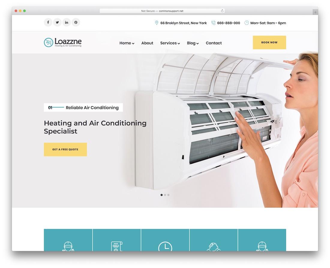 loazzne one page business theme