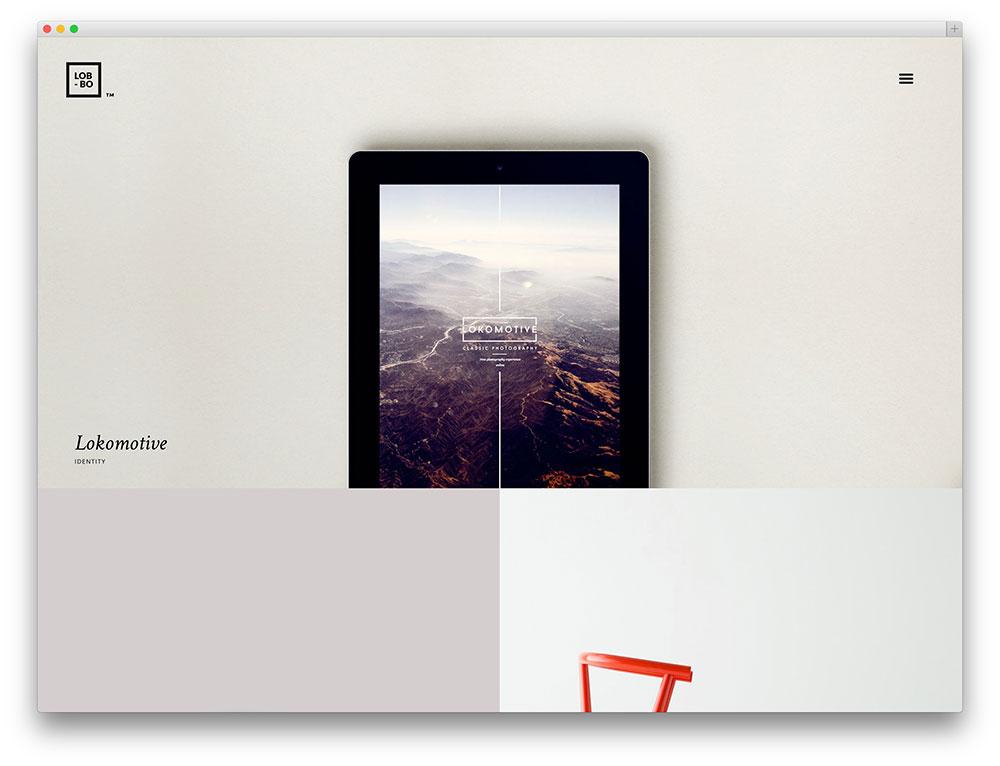 Lobo - minimalistic grid theme