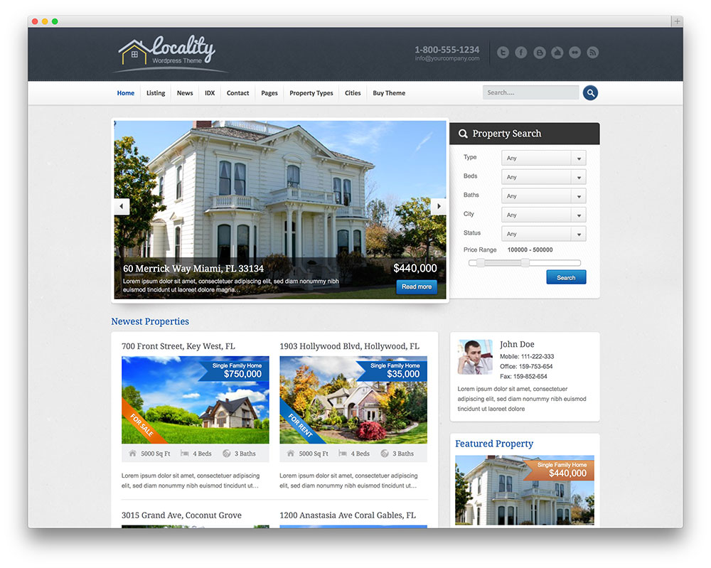 locality classic real estate theme