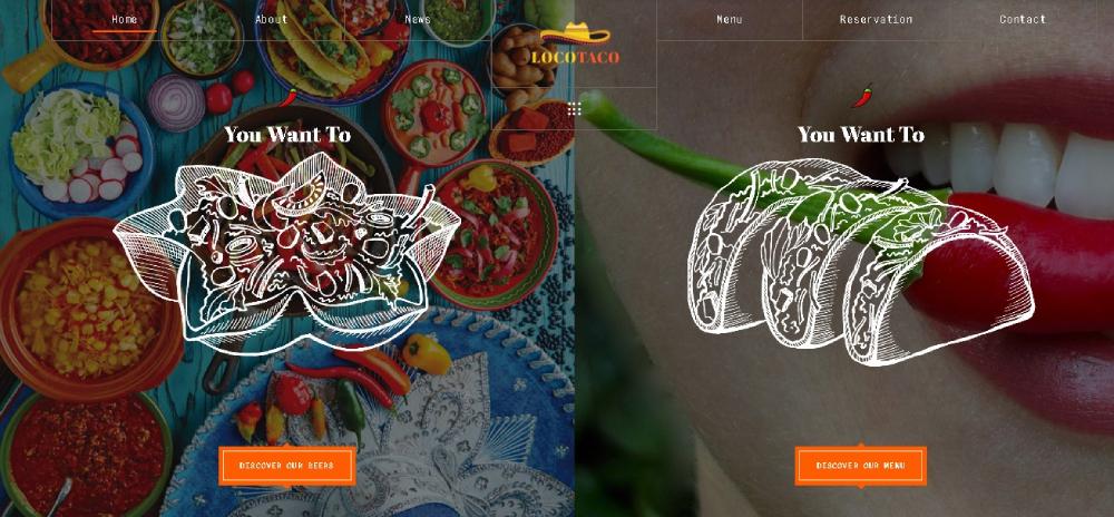 Locotaco food website theme