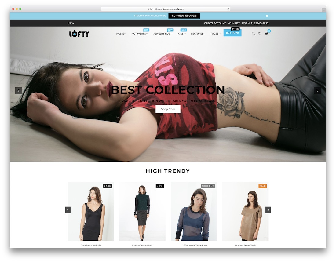 lofty fashion shopify theme