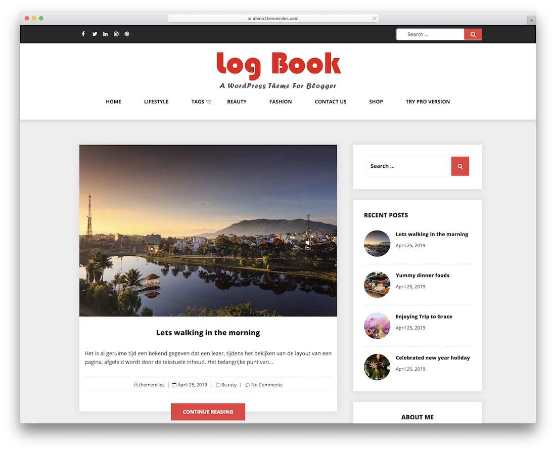 log book free news wordpress theme