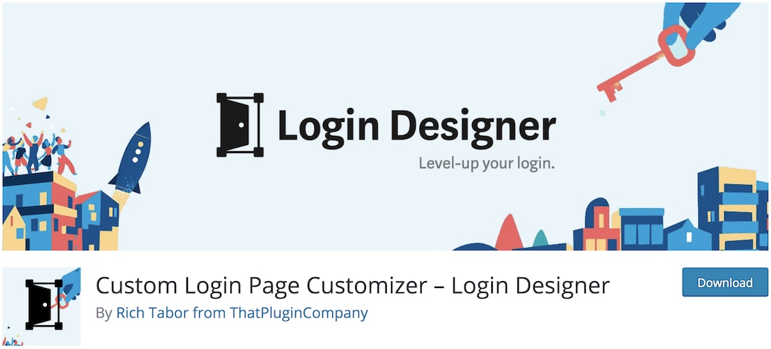 login designer customize login page plugin