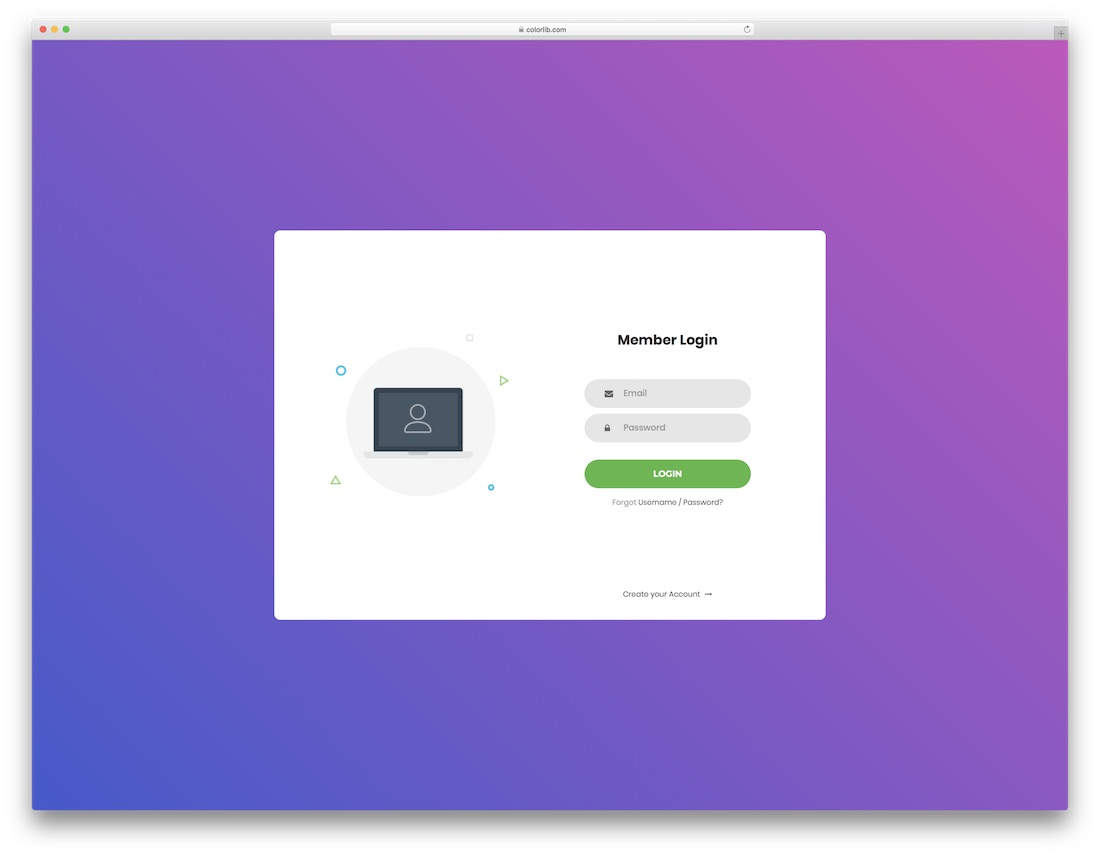 60 free html5 and css3 login form for your website 2018 colorlib login form v1 maxwellsz