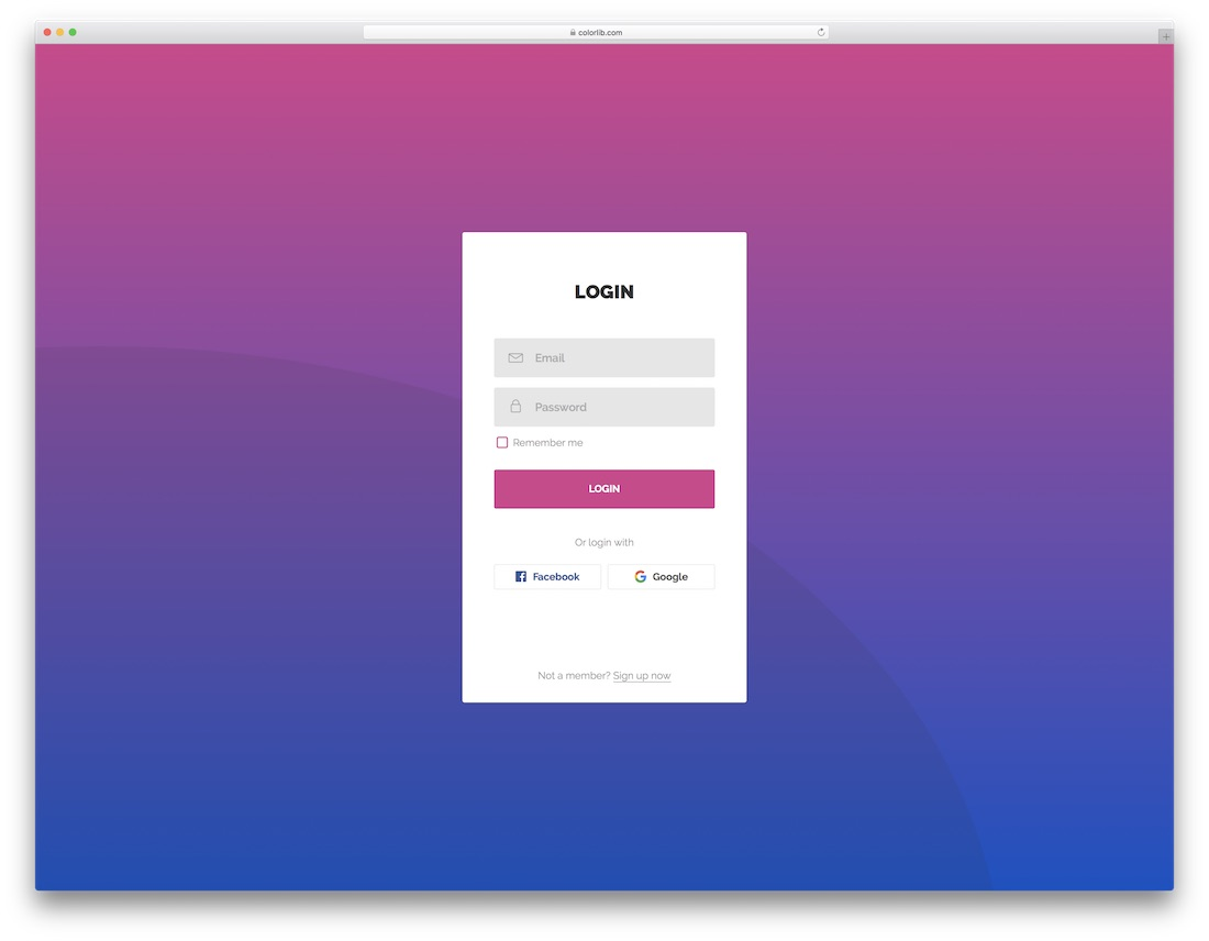 60 Free Html5 And Css3 Login Form For Your Website 2018 Colorlib