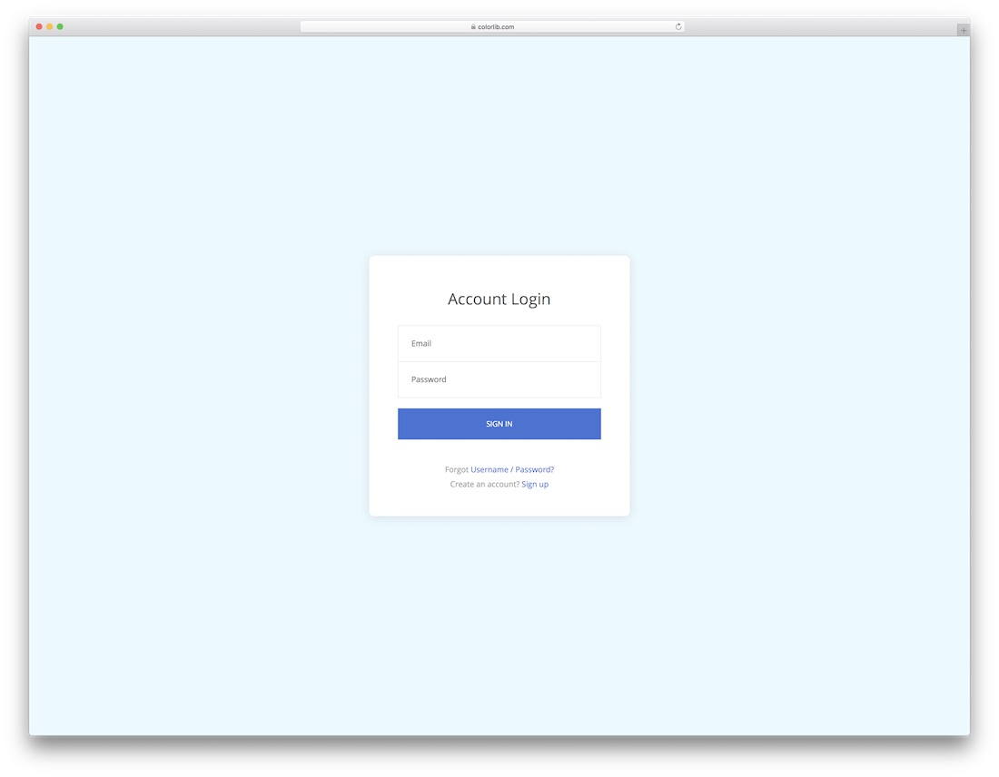 54 free html5 and css3 login form for your website 2020