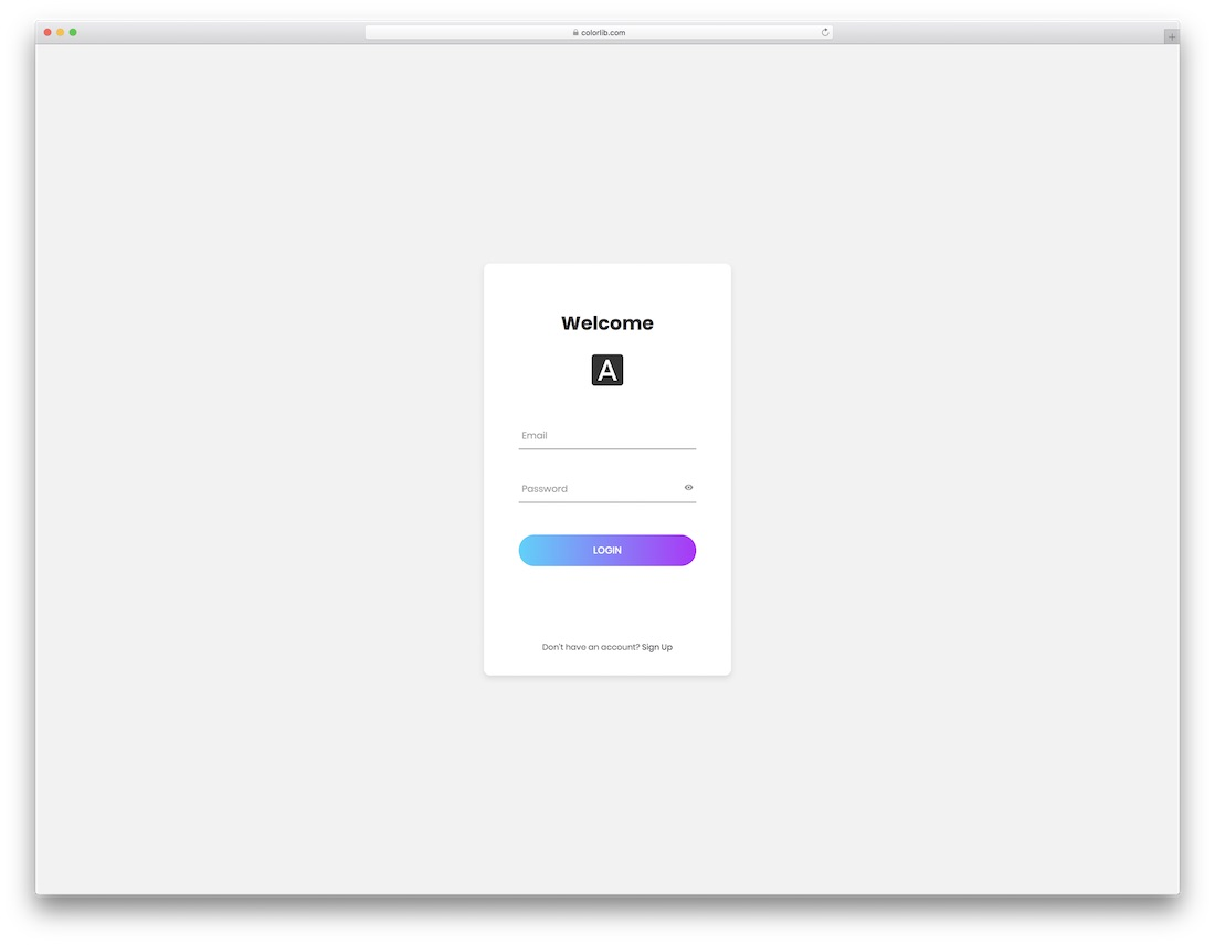 Bootstrap Login Template Free from colorlib.com