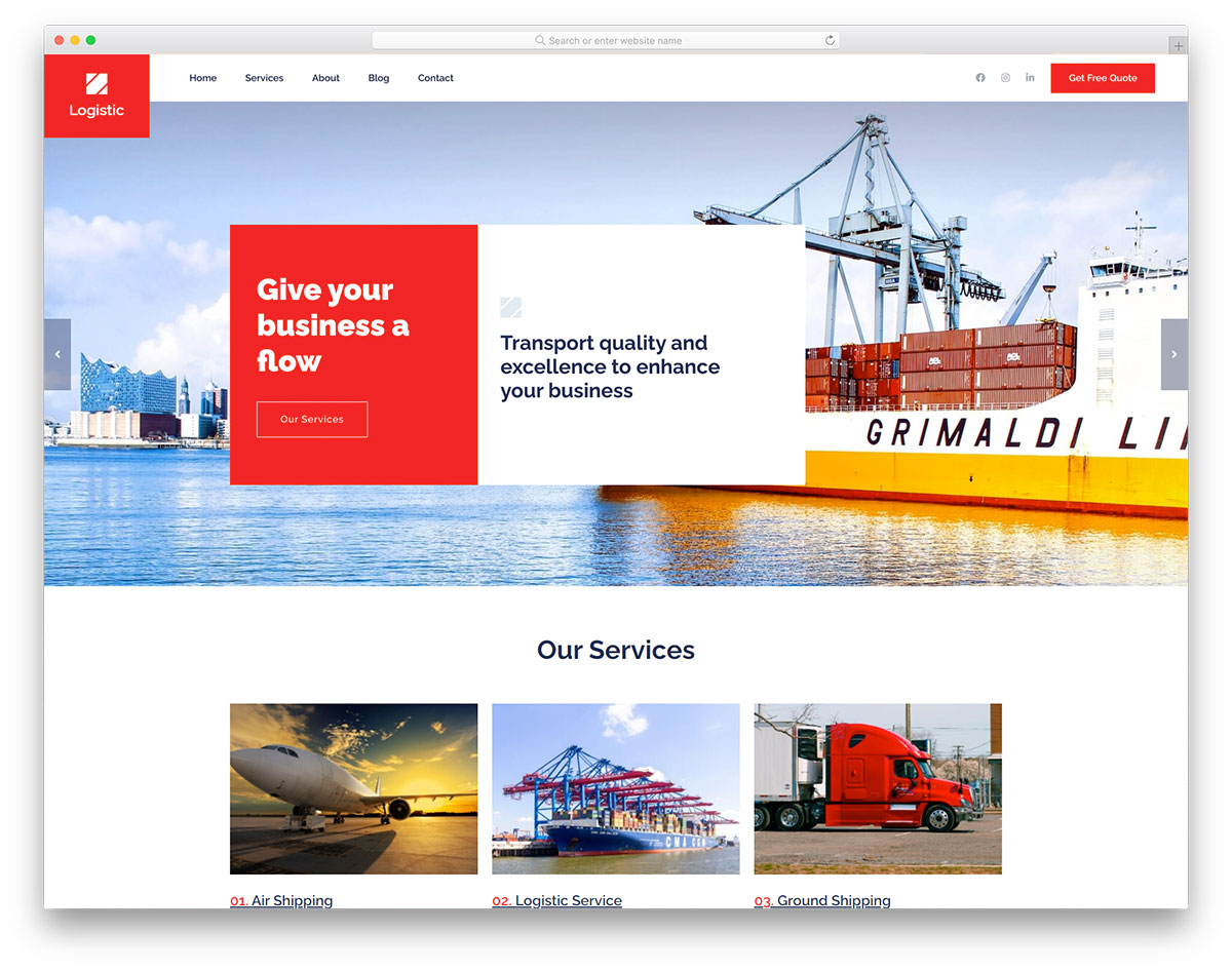 Logistic Free Template