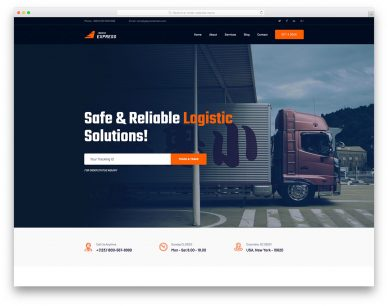 LogisticExpress Free Template