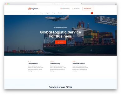 Logistico Free Template