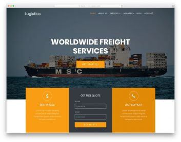 Logistics Free Template