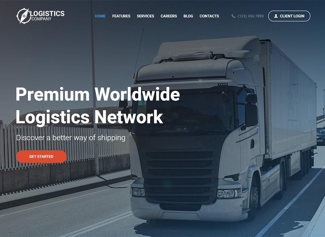 Logistics / Transportation / Warehousing WordPress Theme