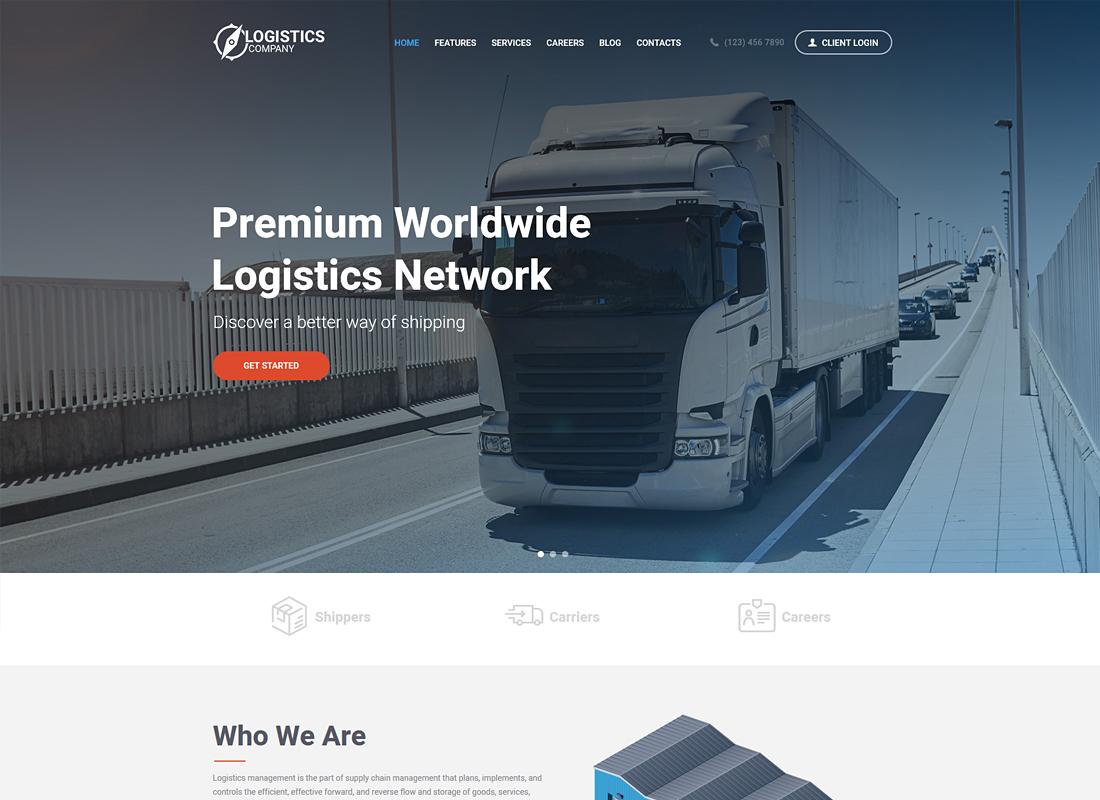 Logistics Company | Logistics / Transportation / Warehousing WordPress Theme