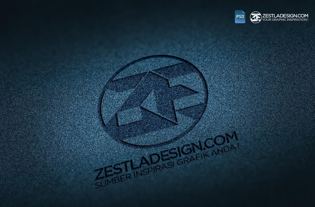 logo mockups denim textures freebie