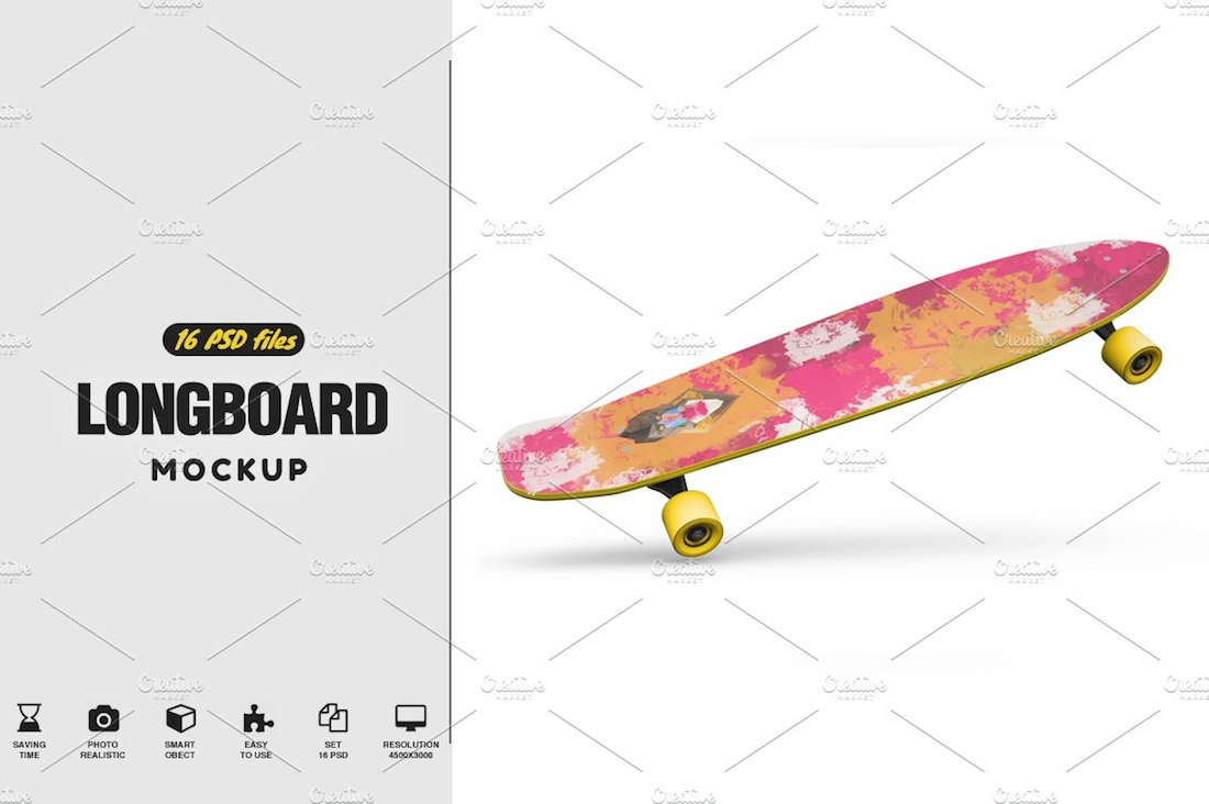 longboard mockup