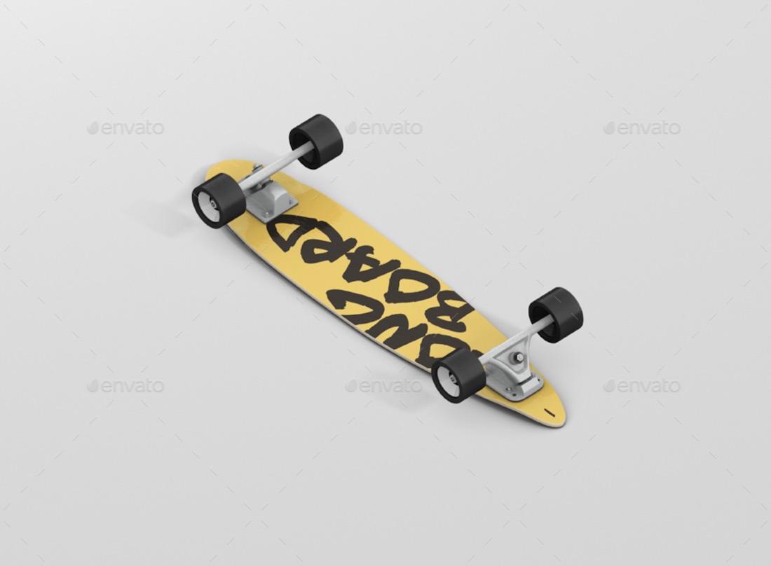 longboard skateboard mockup bundle