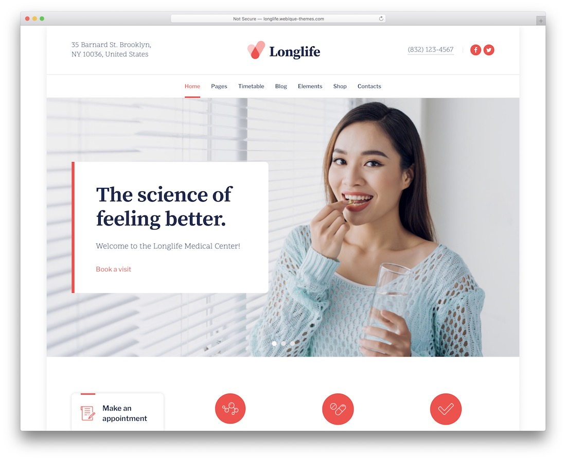 longlife medical website template