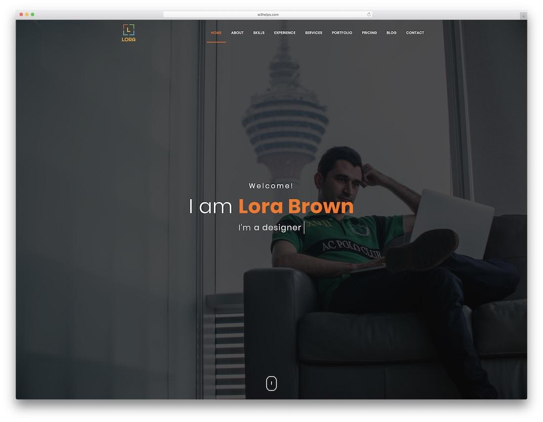 lora cheap website template