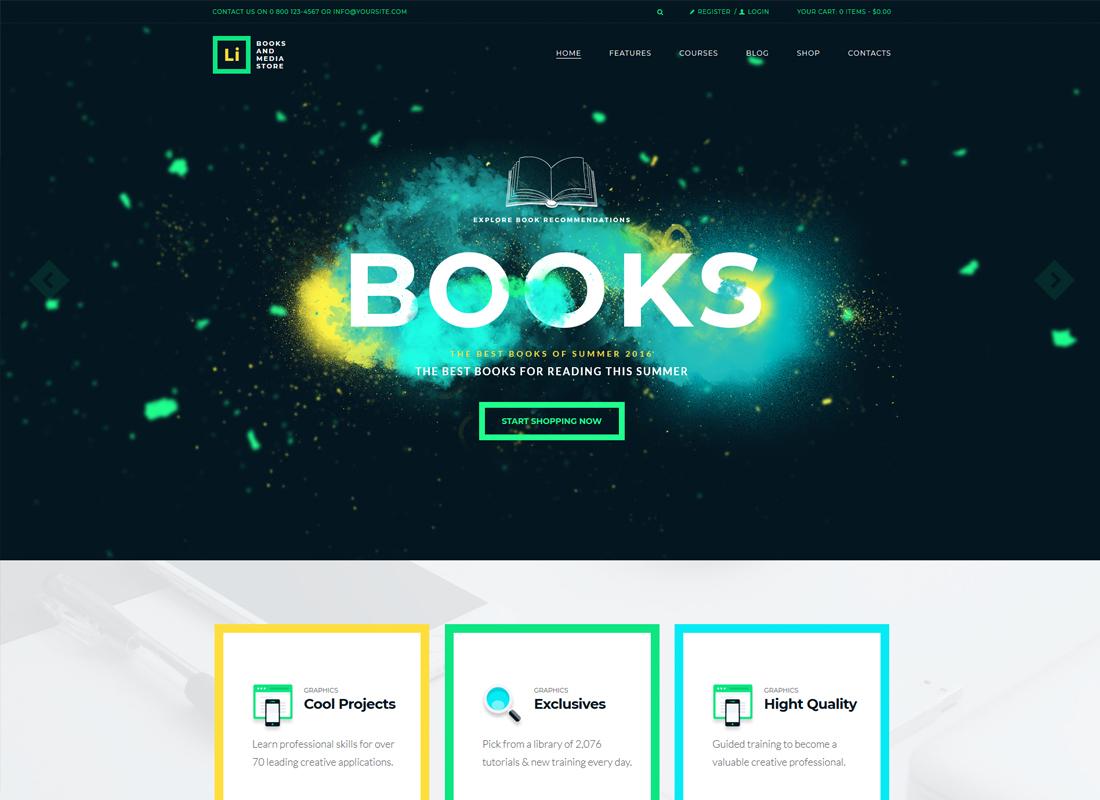 Lorem Ipsum | Books & Media Store WordPress Theme