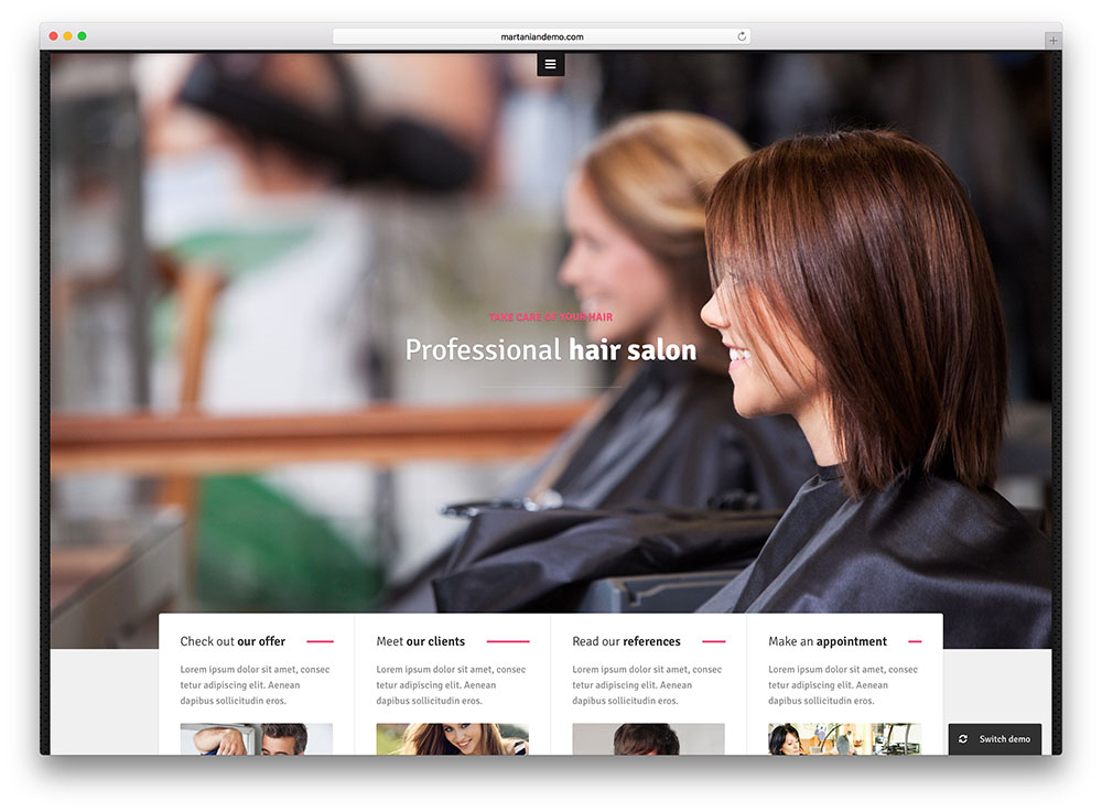 15 Hair Salon and Barber Shop WordPress Themes 2017 - Colorlib