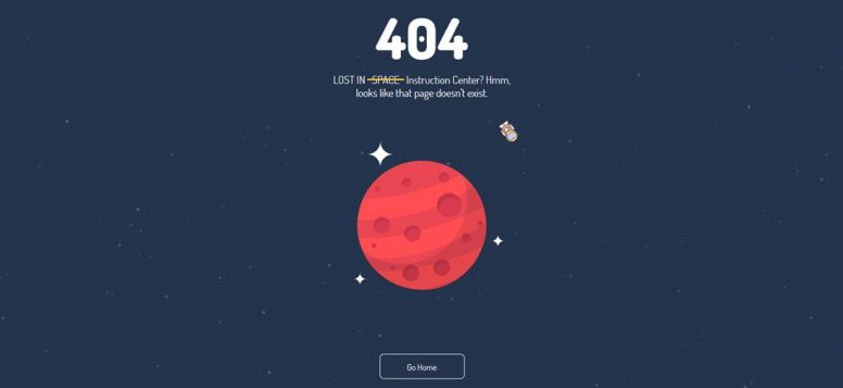 Lost-in-space-free-error-page-templates