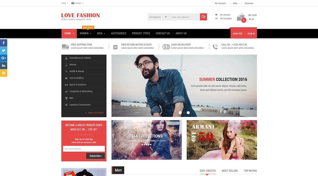 love fashion magento fashion theme