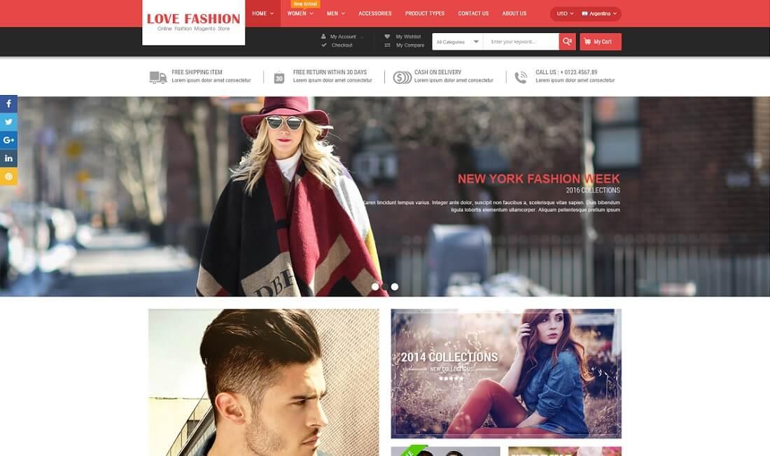 love fashion magento theme