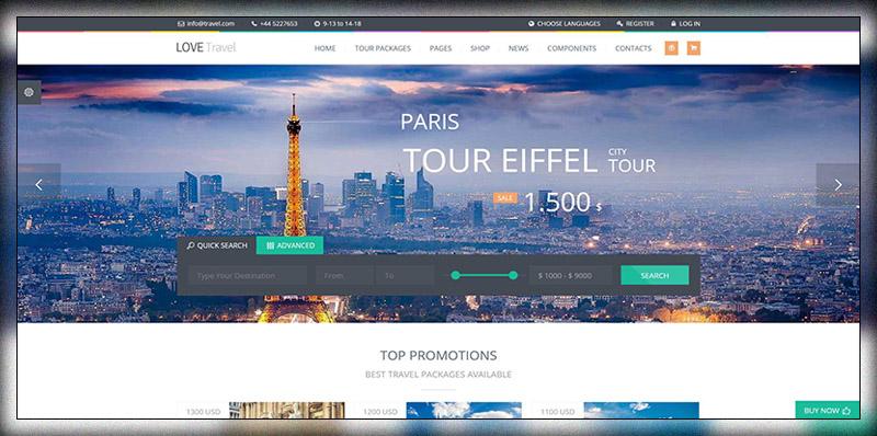 19 Modern & Clean Travel Agency WordPress Themes 2019 - Colorlib