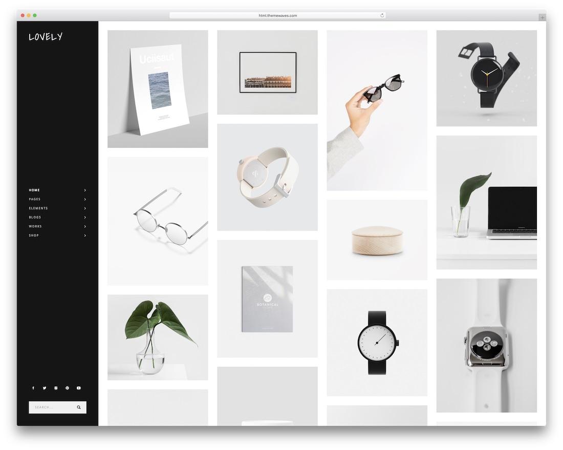 lovely grid website template