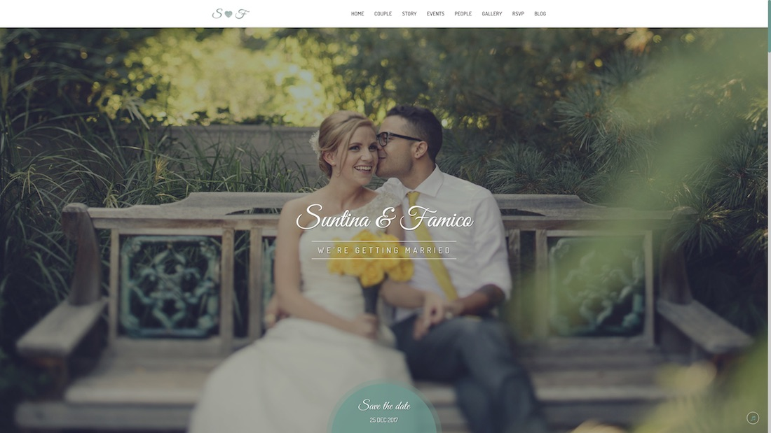 lovely wedding website template