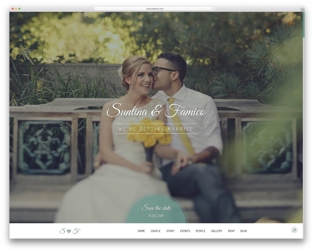 lovely wedding beautiful website template