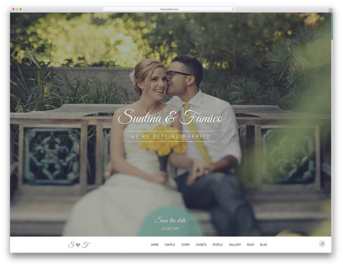 19 Beautiful HTML Wedding Website Templates 2019