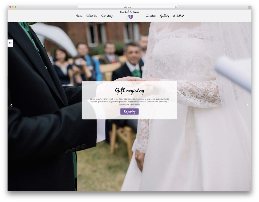 lovely time HTML wedding website template