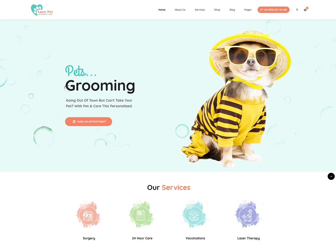 LovePet | Pet Shop & Veterinary WordPress Theme