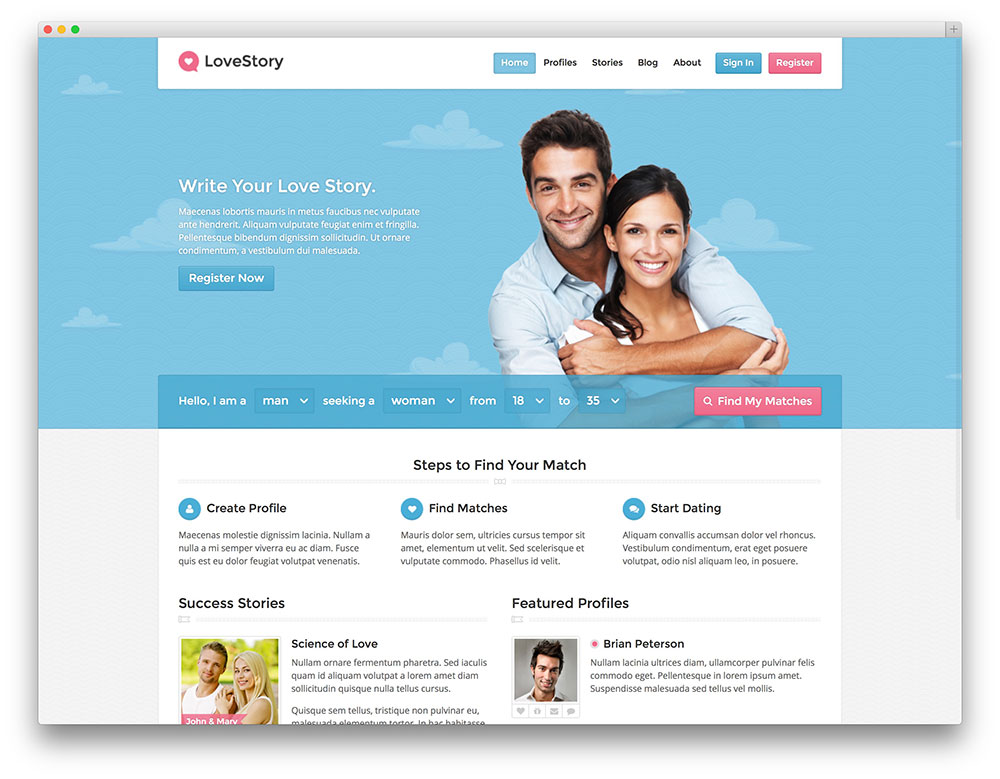dating website for