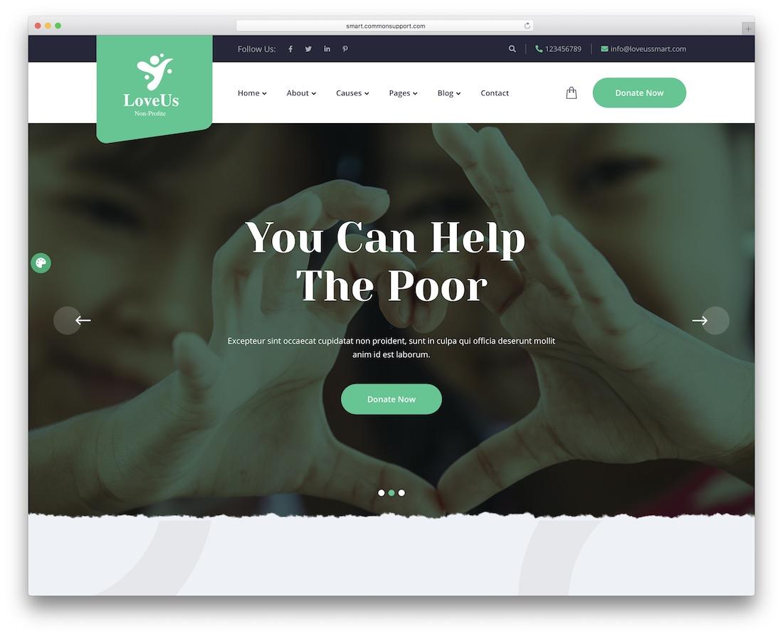 loveus ngo website template