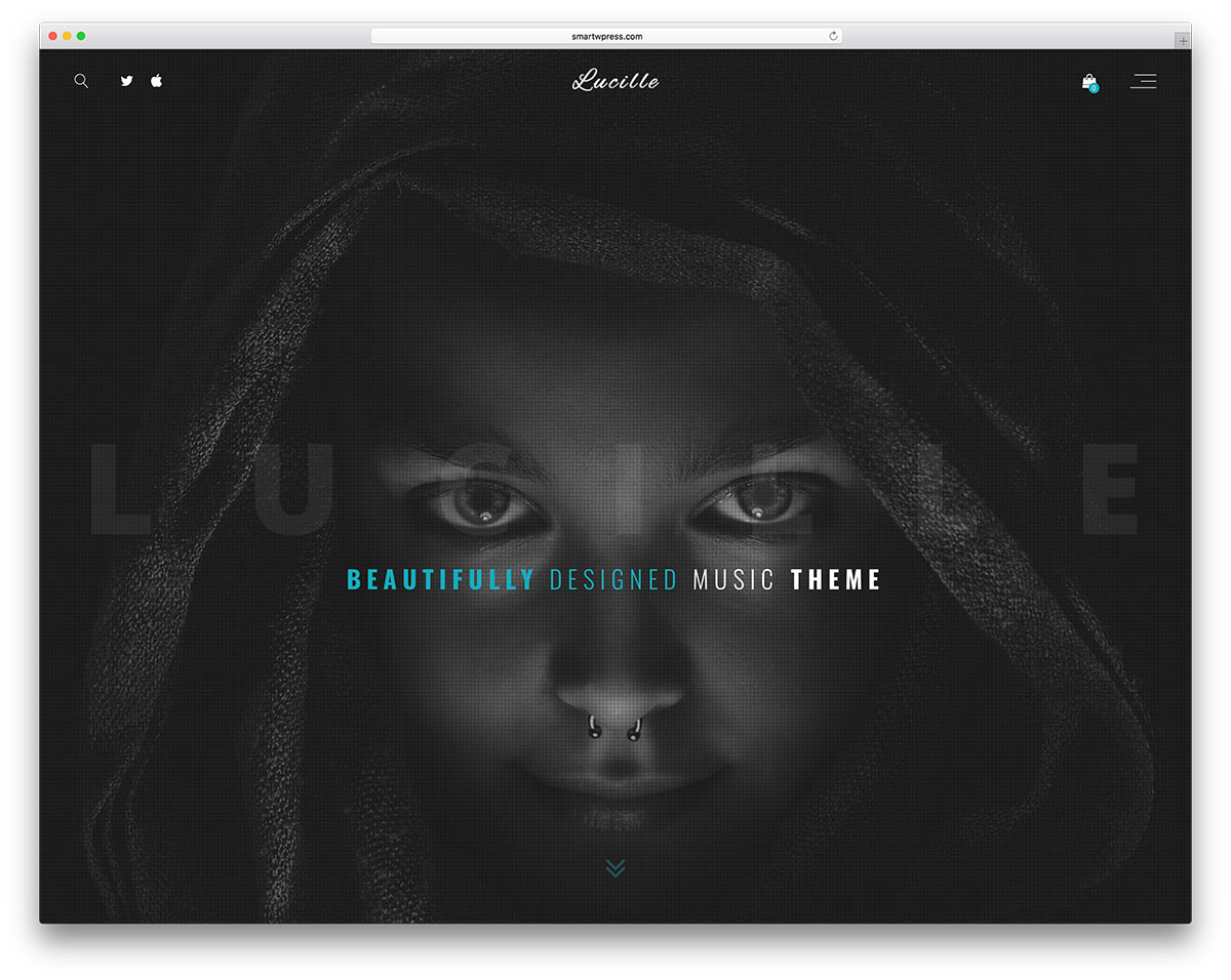 Lucille Is A Music Dedicated WordPress Theme It Has 4 Prelauched Demos So Far Aimed At The Audience With More Targeted For Artists On Way