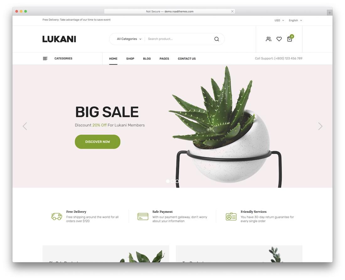 lukani flower website template