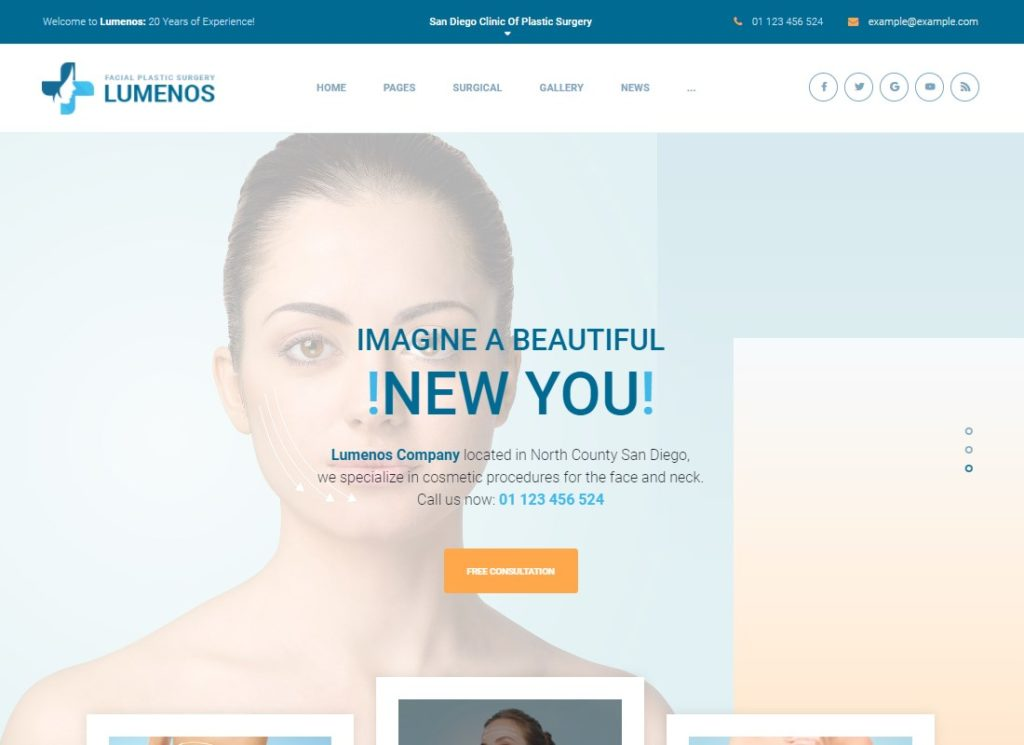 Lumenos | Plastic Surgery Clinic WordPress Theme