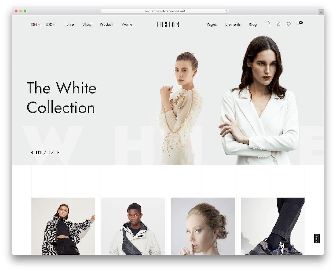lusion ajax woocommerce theme