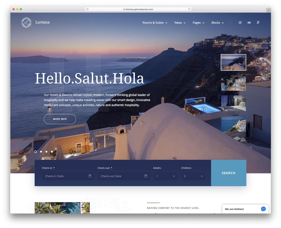 luviana vacation rental wordpress theme