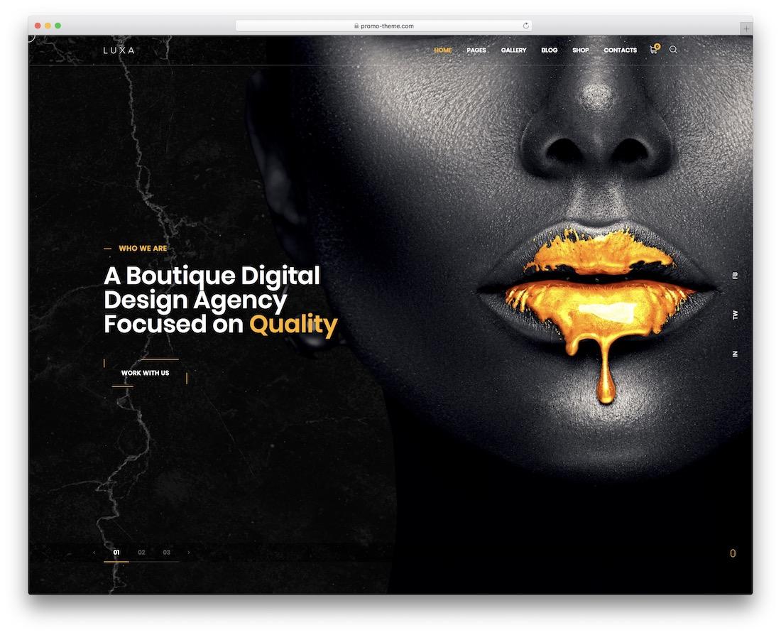 luxa beautiful wordpress theme