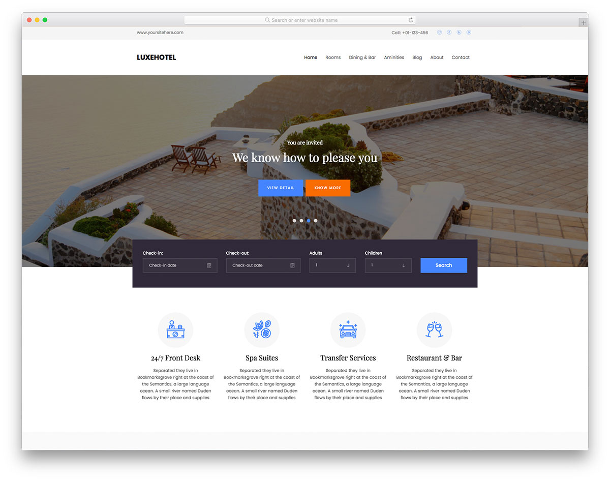 Luxehotel Free Template