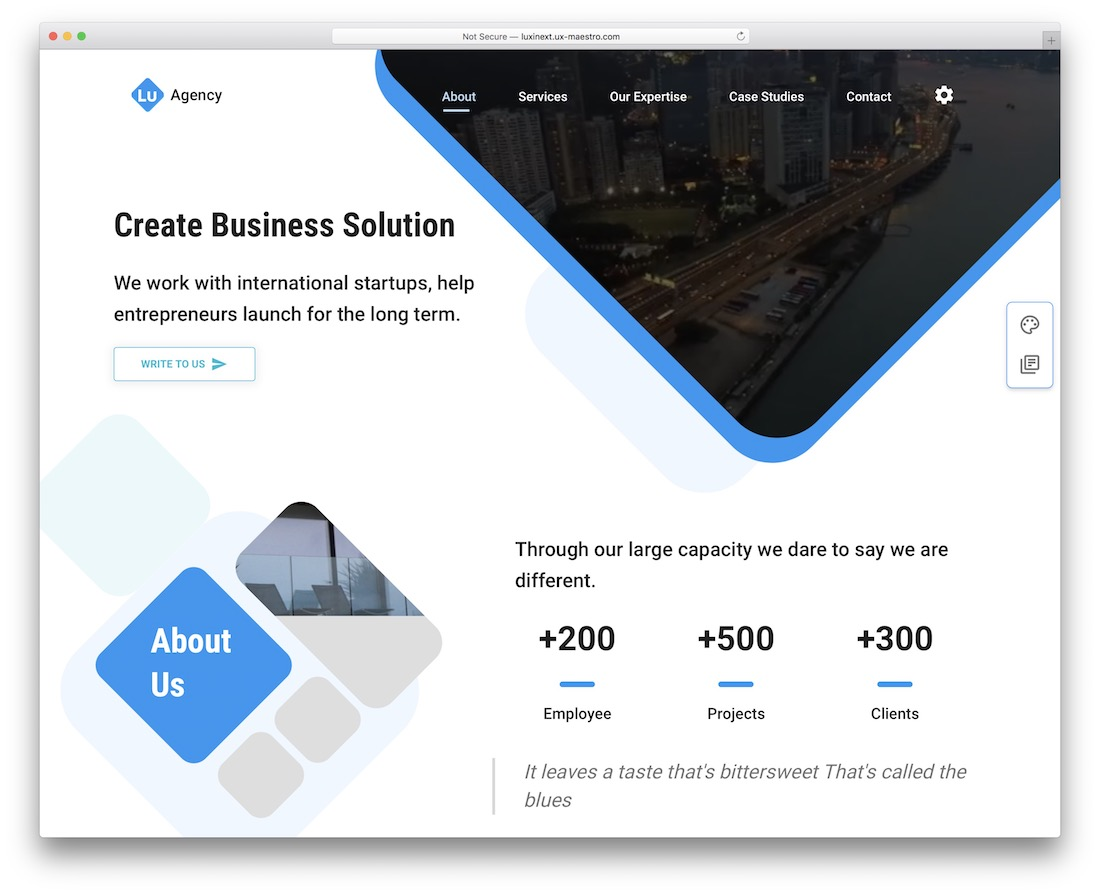 luxiren material ui landing page template